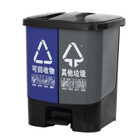 ABEPC 干湿分类垃圾桶 20L 58元包邮 ¥58