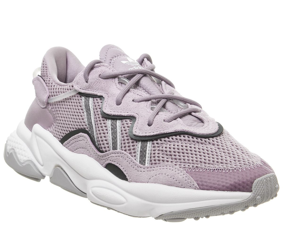 折合585元 Adidas 三叶草 Ozweego 紫灰色运动女鞋