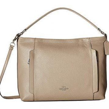 $109.99美金!COACH 蔻驰 Pebbled Leather Scout Hobo Cross-Body Bag 女士斜挎包 约合¥695元人民币(须转运)