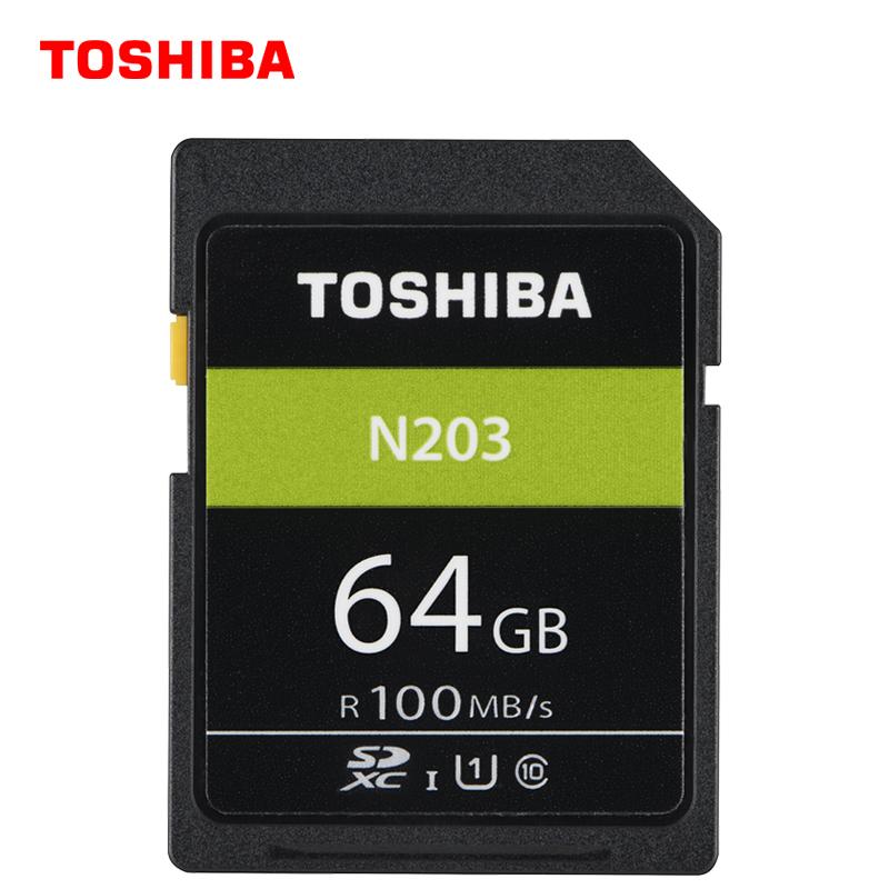 东芝(TOSHIBA) N203 SDXC UHS-I U1 C10 SD存储卡 64GB 59.9元