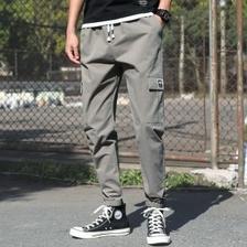 牧西尼 男式经典款多袋工装裤 100%纯棉 49元包邮