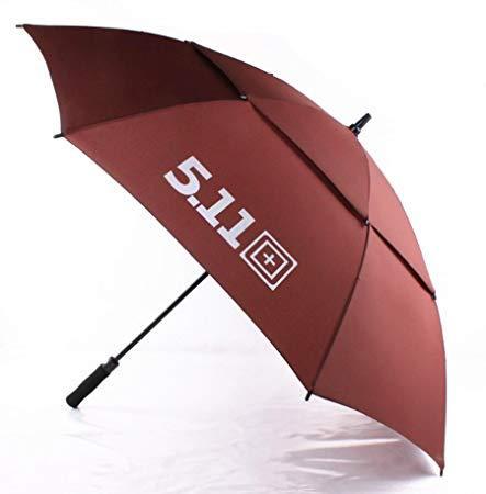 ReChar 防风雨伞 男士商务伞 加大伞身 快速开放一甩即干 防水伞布 双层防风 4343 (咖啡色) 78元