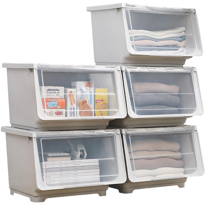 儿童玩具收纳箱塑料特大号侧开衣服整理箱有盖零食箱收纳盒储物箱 25.9元