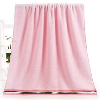 依明洁 纯棉提缎彩条浴巾 粉色洗澡巾 单条装 68*137cm 310g *3件 38.56元(合12.85元/件)