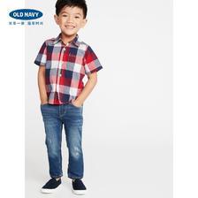 Old Navy 男婴幼童格纹弹力短袖衬衫 *3件 237元(合79元/件)