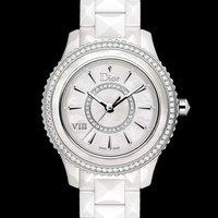 额外减$1000 $3495+免税包邮DIOR VIII 珍珠母贝镶钻陶瓷机械女表