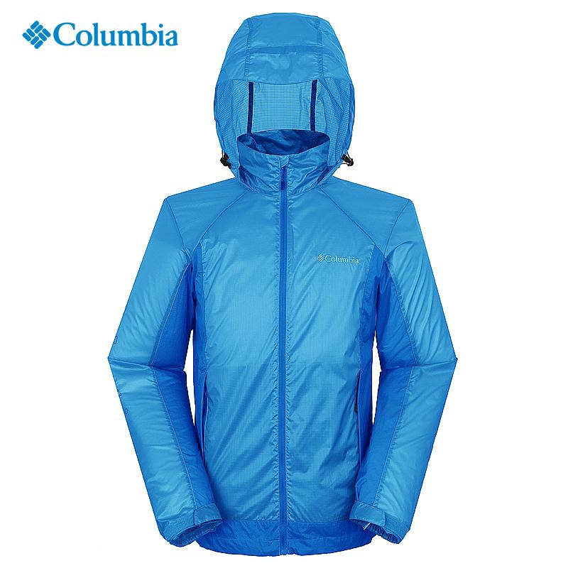 哥伦比亚户外男可收纳速干轻便皮肤衣防风夹克PM2714 227.05元