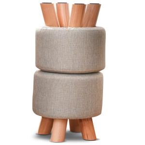 乾森 松木腿 实木小凳子 2个 99划算价22元包邮 10元一个非常便宜