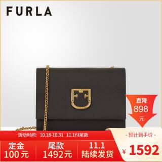 FURLA/芙拉 FURLA VIVA S POCHETTE 2019早秋小号女士单肩斜跨包 深灰色 1592元
