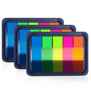 齐心(Comix)3个装荧光膜指示标签/便签条/便利贴/百事贴 (44x12mm)20张*5色 办公文具 D7012EC *13件 47.35元(合3.64元/件)