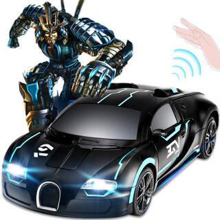 JJR/C 大型32CM遥控车布加迪(蓝黑色)变形车无线充电赛车玩具车男孩儿童遥控汽车 *3件 144.3元(合48.1元/件)