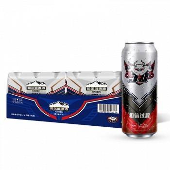 京东商城 Harbin 哈尔滨 (英雄联盟JDG 罐 冰纯啤酒 500ml*18听+小麦王500ml*18) *3件 157.2元(合1.45元/罐,可凑单包邮)