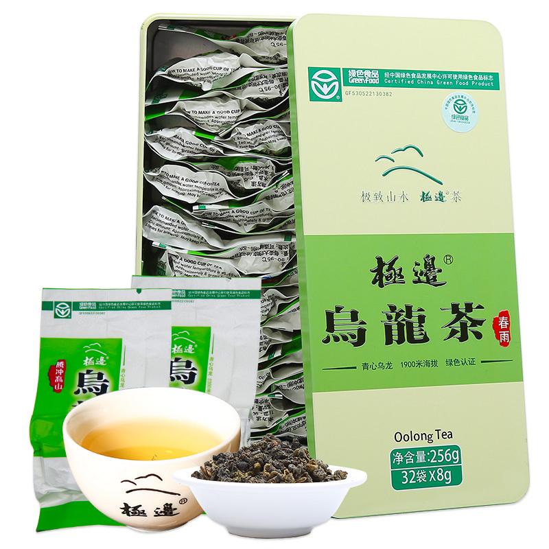 极边春雨云南高山乌龙茶礼盒装茶叶清香型功夫乌龙256g 25元