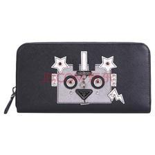 ¥3120 PRADA 普拉达女士黑色皮质钱包手拿包 1ML506 2EEX F0H0S