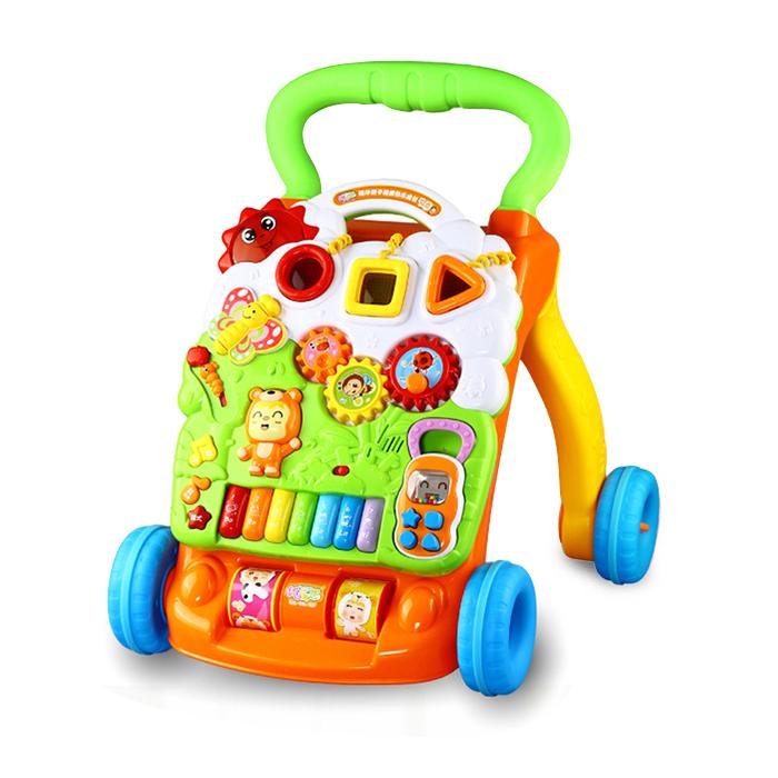 优乐恩儿童学步车宝宝防侧翻手推车1-2岁婴儿学走路早教益智玩具 79元