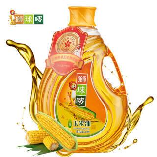 狮球唛 香港品质 食用油 非转基因 压榨一级 玉米油5L 61.9元