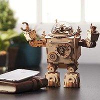 $23.09(原价$32.99)ROKR 3D拼图音乐盒机器人,胸口心形灯会亮哦