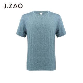 京东京造 J.ZAO 男士运动短袖T恤网布透气清凉运动短袖 麻灰蓝 M *3件 128.49元(合42.83元/件)
