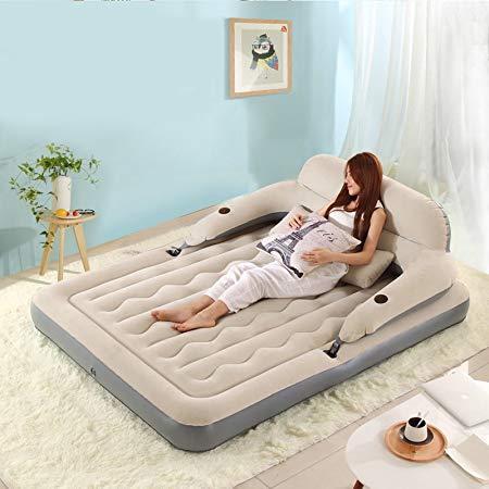 DC Life充气床客人床备用床户外郊游床单人床临时床车载双人气垫沙发床 (灰色(枕头、车载充气泵)) 299元