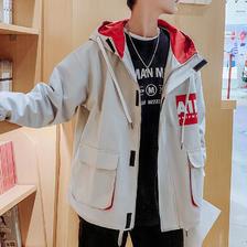 ¥49 春秋男士工装外套夹克
