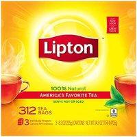 $9.37 一杯只需$0.03 Lipton 纯天然红茶包 312包
