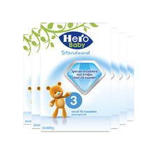 25日0点:Hero Baby 婴幼儿配方奶粉 3段 800g*6盒 505.85元含税包邮(需用券,合84