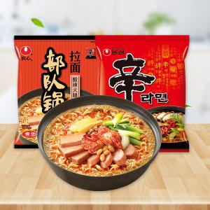 天猫超市 韩国农心 辛拉面+部队锅拉面 9袋 34.9元618返场价 正价107.9元