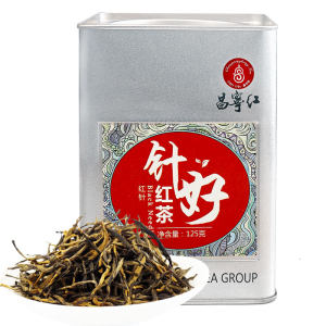 联合利华供应商 昌宁红 云南滇红 特级大叶种蜜香金针红茶 125g 59.9元包邮