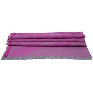 古驰(GUCCI) 男女通用中性款紫红色方围巾 281942 3G704 1772 1100元