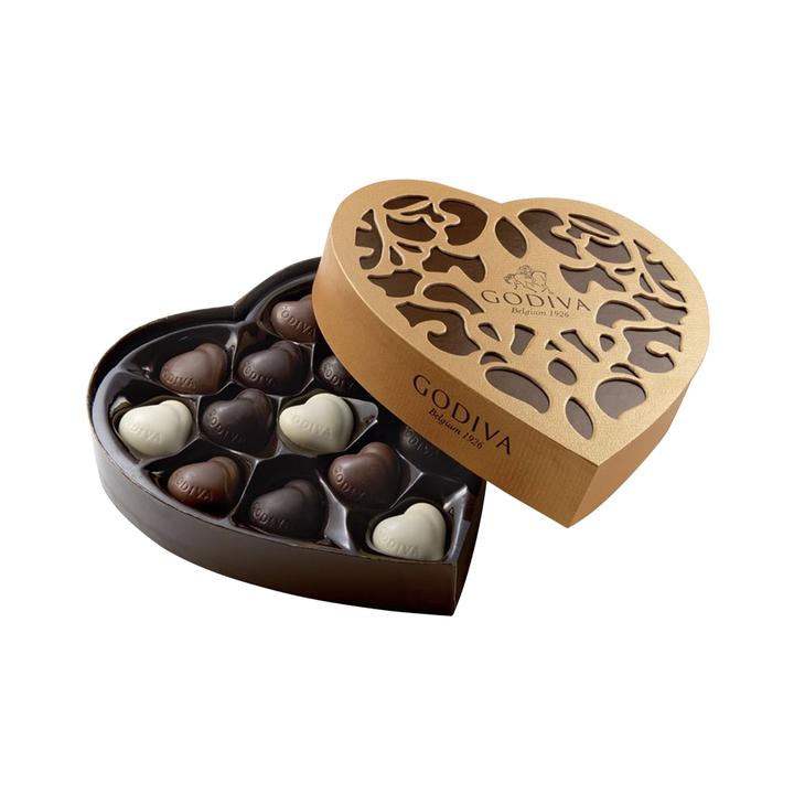 21日0点、双11预售: 比利时Godiva歌帝梵巧克力心形礼 209元包邮
