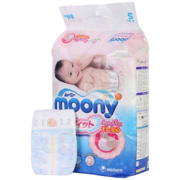 京东PLUS会员: moony 尤妮佳 婴儿纸尿裤 S84片 *4 254.2元包邮