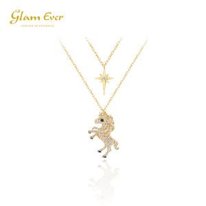 glam Ever 独角兽的眼泪项链 星星双层锁骨链 79元包邮 平常279元