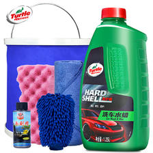 龟牌汽车洗车液水蜡泡沫清洁清洗剂专用强力去污上光蜡水白车套装 15.8元