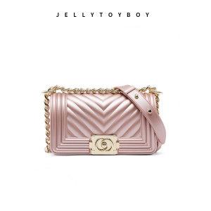 香港 jelly toyboy 经典限量款 菱格链条果冻包 99元焕新价 正价999元