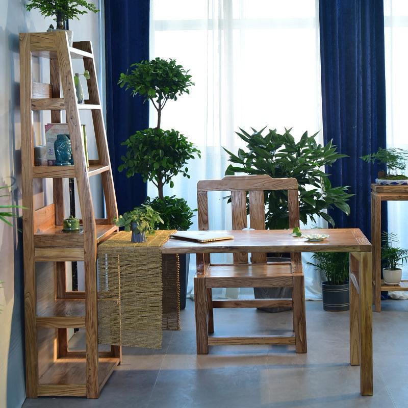 金隆凰 新中式北方老榆木客厅书桌茶桌餐桌现代简约办公桌学习桌  券后700元