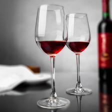 ¥5.9 厨乐皇 水晶玻璃红酒杯 330ml 2支装