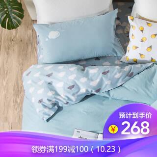 乐我家纺(LOVO) 水洗棉四件套 特丽斯 1.8米床 *2件+凑单品 373.9元(合186.95元/件)
