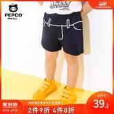 小猪班纳童装男宝宝中裤2019夏装新款儿童休闲裤子男小童针织短裤 49.00