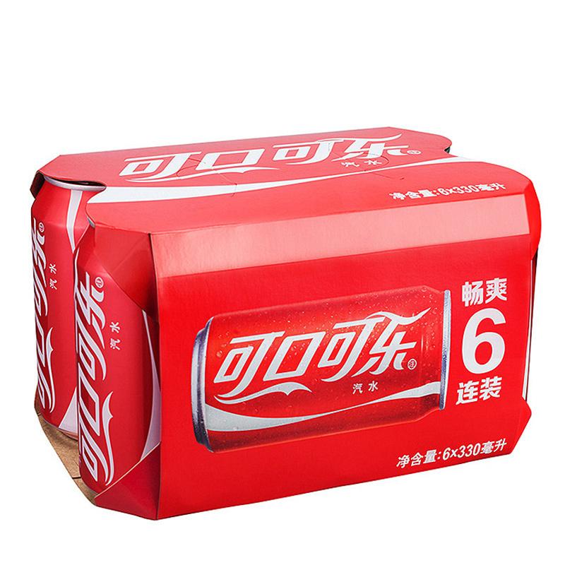 限地区: Coca Cola 可口可乐 汽水 330ml*6罐 *8件 80元包邮(需用券)