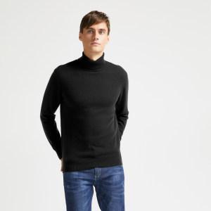 拉夫劳伦制造商 本米 100%超细美利奴羊毛 男高领羊毛衫 249元包邮