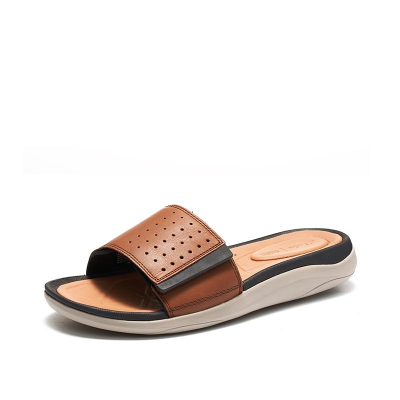 clarks其乐夏季时尚软底外穿拖鞋Garratt Slide一字拖沙滩拖鞋男 499元