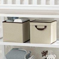 $5收2个史低价:Delta Children 儿童房带盖收纳盒2个装