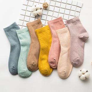 10双 日系百搭纯色中筒棉袜 ¥20
