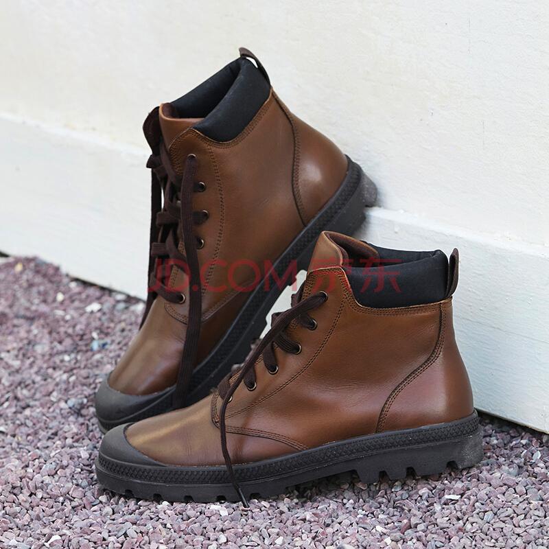 ¥212.55 京东PLUS会员:京东京造 男士牛皮工装靴