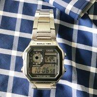 $19.66 清新小白$16 Casio 经典多功能男表