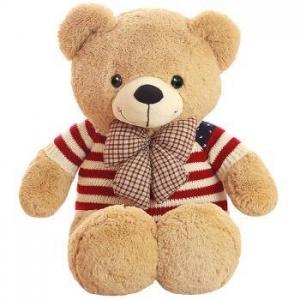 京东PLUS会员: 爱尚熊 泰迪熊公仔 1米国旗熊 *2件 99元包邮(合49.5元/件)