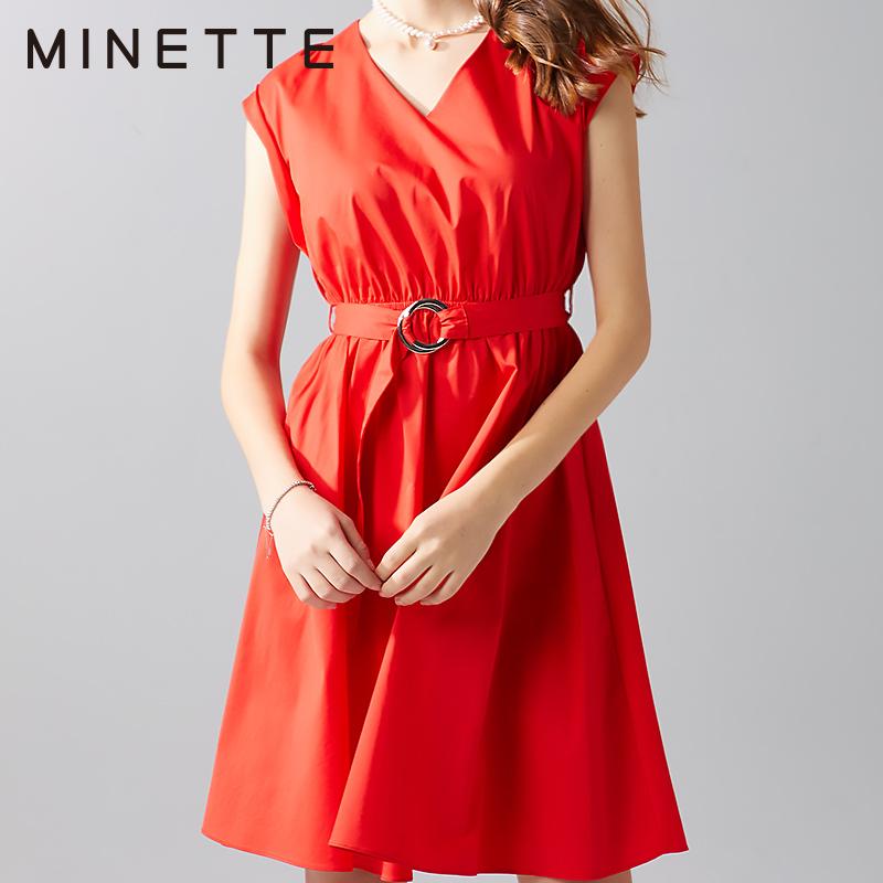 ¥109包邮 minette 30218149926 女士无袖收腰连衣裙