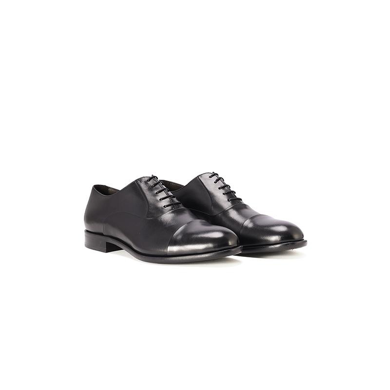 HUGO BOSS雨果博斯男鞋黑色商务圆头真皮皮鞋潮鞋 3150元