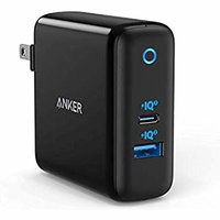 $31.99 GaN技术加持Anker 60W PIQ 3.0 USB-C USB-A 双口充电器