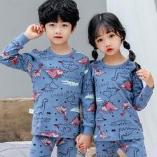 天猫 多款可选:北极绒 中大童 棉毛内衣套装 24.9元包邮(需用劵)
